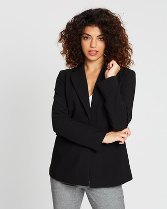 Banana Republic Petite Structured Twill Sculpted Blazer