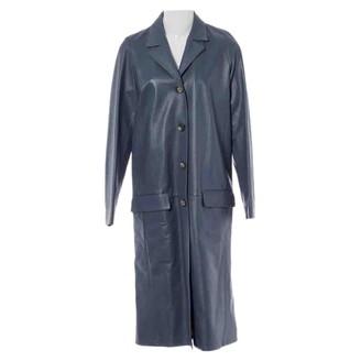 Celine Blue Leather Coats