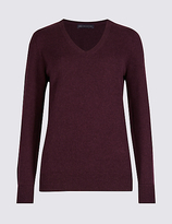 M&S Collection Lambswool Rich V-Neck Jumper