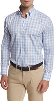 Peter Millar Gion Check Sport Shirt, Light Blue