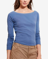 Lauren Ralph Lauren Petite Stretch Long-Sleeve T-Shirt