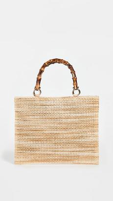 Caterina Bertini Bamboo Handle Tote Bag