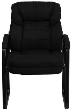 Charlton Home Coyne Executive Guest Chair Charlton Home Upholstery Color: Black Microfiber