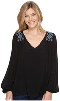 Stetson 0882 V-Neck Peasant Blouse Women's Blouse