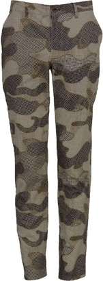 Lords Of Harlech Charles Pant In Dot Camo Camel