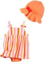 Isaac Mizrahi Striped Sundress & Sunhat Set (Baby Girls 12-24M)