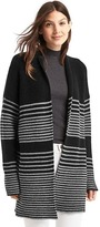 Gap Merino wool blend gradient stripe shaker cardigan