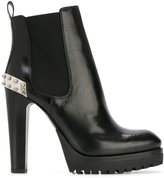 Alexander McQueen Mod boots - women - Calf Leather/Leather/rubber - 37.5