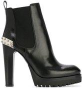 Alexander McQueen Mod boots - women - Calf Leather/Leather/rubber - 37