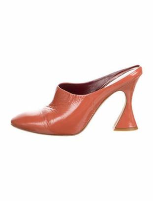 Sies Marjan Patent Leather Mules Orange
