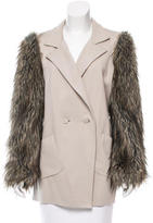 Robert Rodriguez Faux Fur-Accented Short Coat
