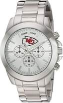 Game Time Women's 'Knock-Out' Quartz Stainless Steel Automatic Watch, Color:Silver-Toned (Model: NFL-TBY-KC)