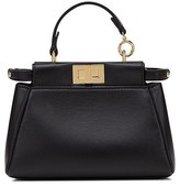 Fendi 'Micro Peekaboo' Nappa Leather Bag - Black