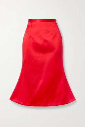 Christopher Kane Duchesse-satin Midi Skirt - Red