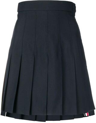 Thom Browne High-Waist Pleated Mini Skirt