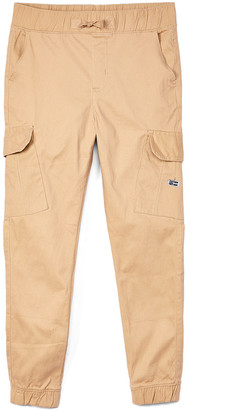 Beverly Hills Polo Club Boys' Casual Pants KHAKI - Khaki Stretch-Twill Cargo Joggers - Boys
