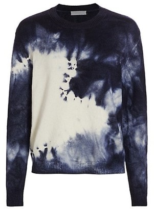 Majestic Filatures Wool & Cashmere Tie-Dye Crewneck Sweater