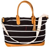 Cathy's Concepts Monogram Oversized Weekender Tote - Black