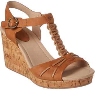 Sperry Dawn Sky Leather Wedge Sandal