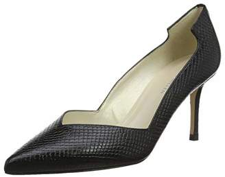 Karen Millen Fashions Limited Women's Textured Leather Court Shoes Closed Toe Heels, (Black 01), 6 (39 EU)