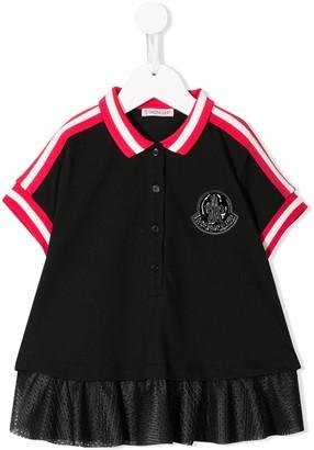 Moncler Enfant Mesh Hem Polo Shirt