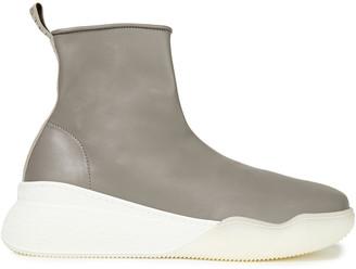Stella McCartney Loop Faux Leather High-top Sneakers