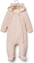 Gap Cozy polka dot bear one-piece