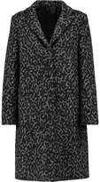 MSGM Leopard-Print Wool-Blend Felt Coat