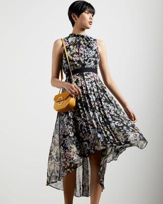 Ted Baker Jasmine Sleeveless Dip Hem Dress