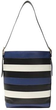 Diane von Furstenberg Striped Leather Bucket Bag