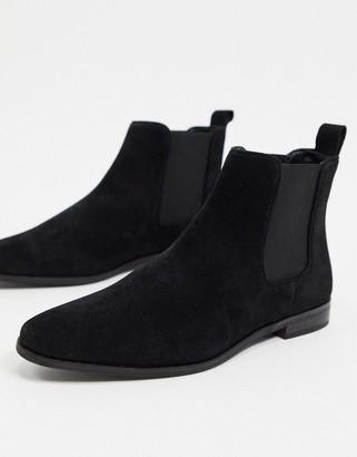 Walk London alfie chelsea boots in black suede