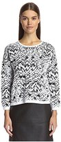 French Connection Women's Leopard Moth Jumper