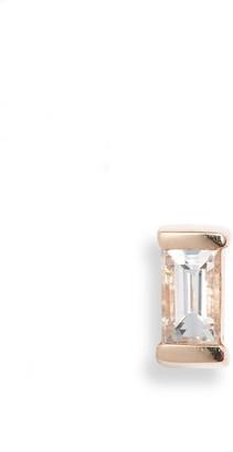 Maria Tash Diamond Baguette Stud Earring