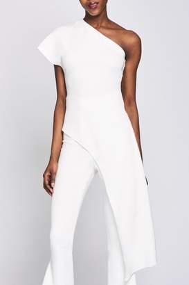 Cushnie White One Shoulder Asymmetrical Tunic
