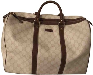 Gucci Boston Beige Cloth Travel bags