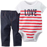 Carter's Love Bodysuit and Pants Set - Baby Girls newborn-24m