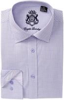 English Laundry Grid Pattern Trim Fit Dress Shirt