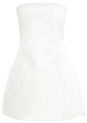 KHAITE Ginger Strapless Faille Mini Dress - Ivory