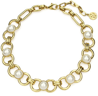 Ben-Amun Short Pearly Chain Necklace