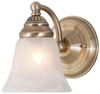 Vaxcel Standford 1 Light Brass Bathroom Wall Fixture