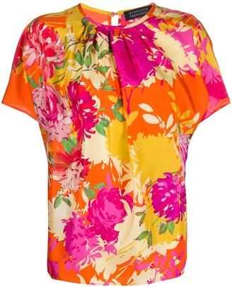 Gianluca Capannolo Floral-Print Round-Neck Blouse