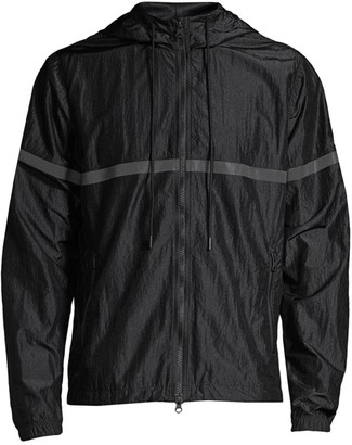 Reigning Champ Striped Zip Front Jacket