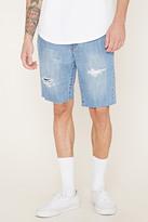 Forever 21 FOREVER 21+ Distressed Denim Shorts