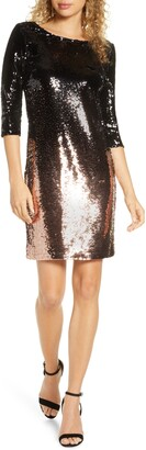 BB Dakota Ombre You Stay Ombre Sequin Dress