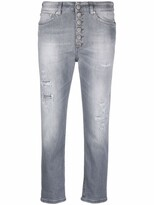Thumbnail for your product : Dondup Cropped Straight-Leg Jeans