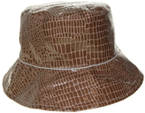 Nine West Taupe Snake Skin Print Waterproof Bucket Hat