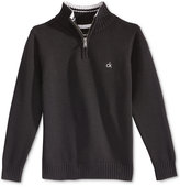 Calvin Klein Little Boys' Scalar Solid Half-Zip Sweater
