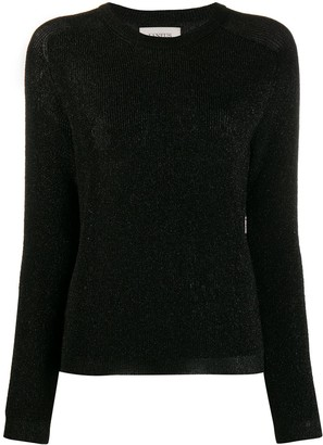 Laneus Round-Neck Metallic Sweater