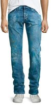 PRPS Demon Enzyme Stone Bleached Denim Jeans, Blue