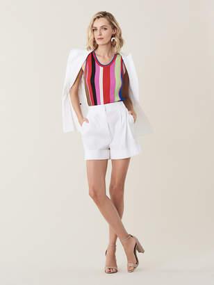 Diane von Furstenberg Shiana Linen High-Waisted Shorts